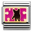 Nomination Dog with Dots in Fuchsia Charm
