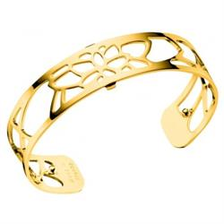 Slim Gold Nenuphar Cuff Bangle