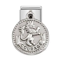 Silver Lion Courage Charm