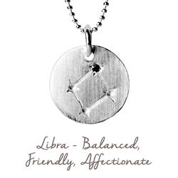Libra Star Map in Silver