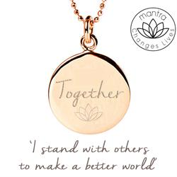 Together Think Equal, Charity Necklace in Rose Gold
