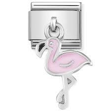 Hanging Pink Flamingo Charm by Nomination