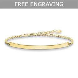 Love Bridge Yellow Gold Bracelet Medium