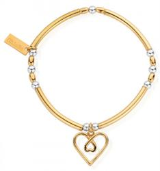 Yellow Gold and Silver Divine Love Bracelet