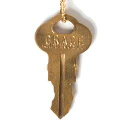 "The Giving Keys GRACE Dainty Gold 36"" Key Necklace"