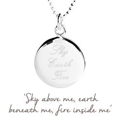 Sky Earth Fire Mantra in Silver