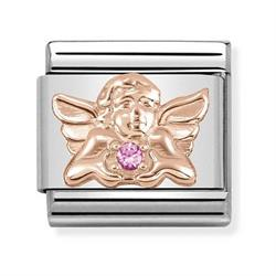 Rose Gold Angel of Happiness Charm
