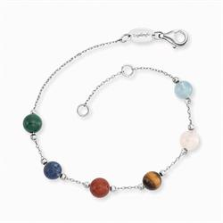 Silver Power Stones Bracelet with Six Gemstones from Engelsrufer