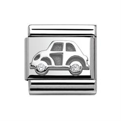 Nomination Silver CZ Car Charm Link