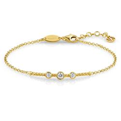 Bella Yellow Gold and CZ Bracelet