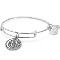 Alex and Ani Cosmic Balance Colour Infusion Bangle in Shiny Silver