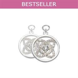 Silver Eastern Lace Earring Coins