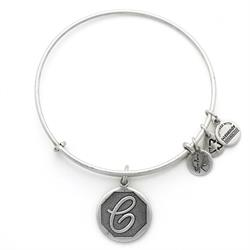 C Initial Bangle in Rafaelian Silver