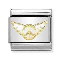 Gold Peace Angel Charm