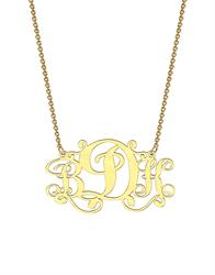 Monogram Necklace in Yellow Gold