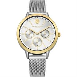 Heidi Yellow Gold and Silver Mesh Watch
