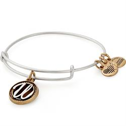Buy Alex and Ani U Initial Two-Tone Bangle