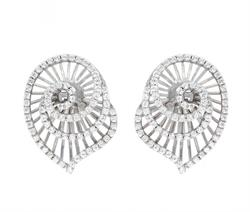 Bourgogne Argent White Gold Earrings