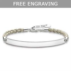 Beige Love Bridge Bracelet 19.5cm by Thomas Sabo