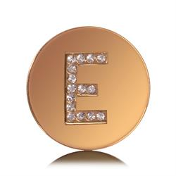 Letter E Small Gold Coin
