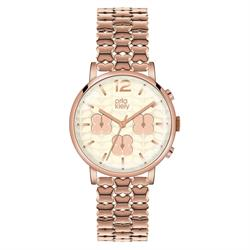 Orla Rose Gold Chronograph Watch
