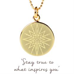 Inspiring Star Disc Necklace in Gold
