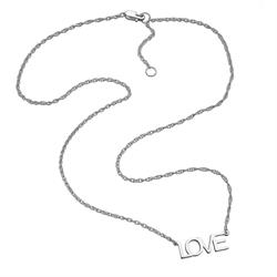 Jennifer Zeuner Lucinda LOVE Necklace in Silver