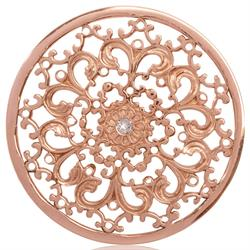 Rose Gold Lucky Daisy Coin 43mm