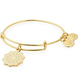 Solar Plexus Chakra Bangle in Shiny Gold