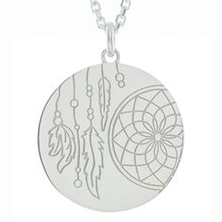 Dreamcatcher Silver Personalised Necklace 80cm
