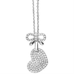 Tresor Paris Allure Heart Sterling Silver & White Crystal Necklace
