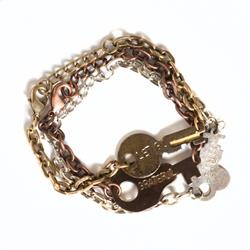 Giving Keys LET GO Silver Never Ending Bracelet