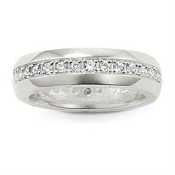 Cubic Zirconia Band Ring 56