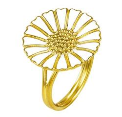 Buy Lund Large Gold Daisy Ring Size 56