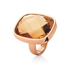 Elements Champagne Crystal Ring 54