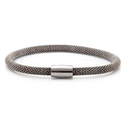 Buy Pure Attraction Thin Black Mesh Bracelet
