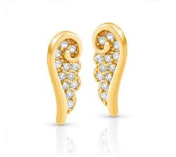 Angel CZ Studs Gold