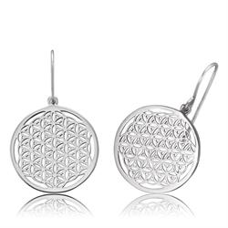 Flower of Life Earrings in Silver