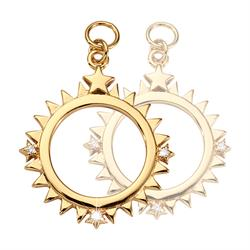 Gold Wandering Star Earring Coins