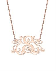 Monogram Necklace in Rose Gold