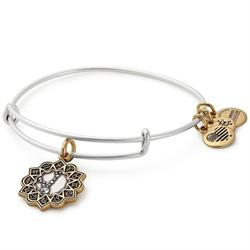 Pisces Two Tone Zodiac Bangle