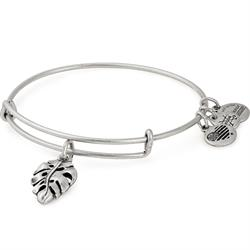 Buy Alex and Ani Palm Leaf Bangle in Rafaelian Silver