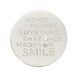 Silver Never Regret Small Coin 23mm