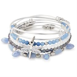 Dragonfly bangle Set of 5