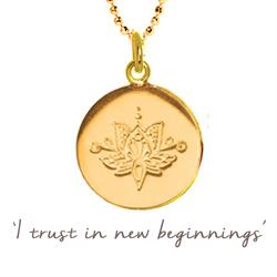Buy Mantra Lotus New Beginnings Necklace in Gold