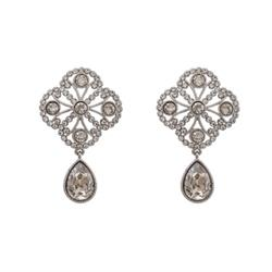 Miss Lola Silver Crystal Earrings