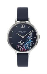 Wisteria Watch, Silver and Navy