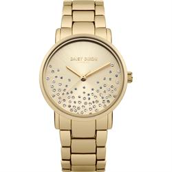Aubrie Gold Mesh Sunray Dial Watch