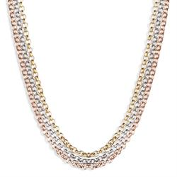 Tri-Colour 80cm Chain