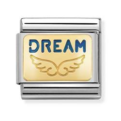 Nomination Gold Dream Wings Charms